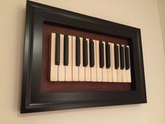 Repurposed 2 Octave Piano Keys Framed by 88andcolor on Etsy