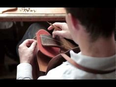 A short peek at a Hermes leather craftsman hand sewing using the traditional two needle saddle stitch,  technique.