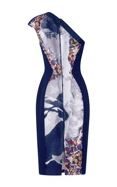 Asymmetric One Shoulder Sheath Dress by Antonio Berardi for Preorder on Moda Operandi