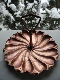 Vintage Georgian Hammered Copper Tidbit Dish