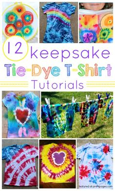 How to Make Keepsake Tie-Dye T-Shirts for end of the school year celebrations or summer fun with your kids!  - Pre-K Pages