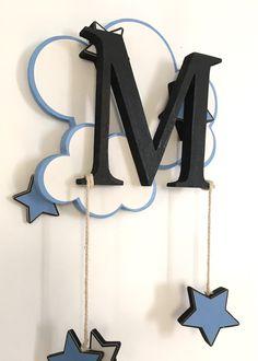 Décoration chambre enfant bébé mobile initiale nuage étoile : Décoration pour…
