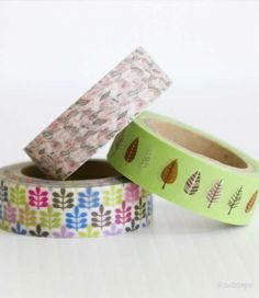 Leaves Washi Tape - Nature Animal -