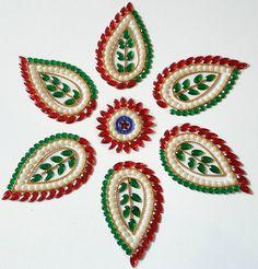 Kundan Rangoli Tilak Pattern with Pearls by KundanArt on Etsy