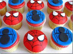 spiderman cupcakes