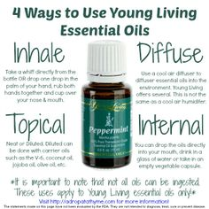 4 Ways to Use Young Living Essential Oils.  If you suffer from chronic headaches, you'll want to check this out!