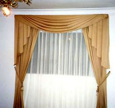 Como hacer cortinas modernas Valences For Windows, Curtain Designs, Curtains, Home Decor, Ideas, Flower Decoration, Tulle Curtains, Blinds Curtains, Sheer Curtains