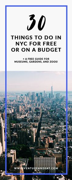 New York City | NYC | NYC on a budget | Budget travel | travel tips | NYC is one of the most expensive cities in the world, whether you live here or are visiting. This list of free or almost free things to do is perfect for sticking to your budget, but lets you have still have fun!