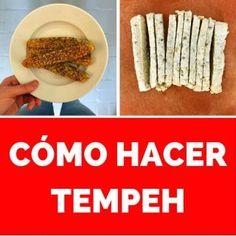 como-hacer-tempeh-pinterest Tempeh, Vegan Dessert Recipes, Desserts, Kefir, Empanadas, Baked Potato, Gluten, Pasta, Cooking