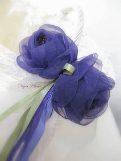 Alıntı Diy Ribbon Flowers, Organza Flowers, Fabric Flowers, Paper Flowers, Crepe Paper, Flower Crafts, Craft Flowers, Fabric Flower Tutorial, Ideas