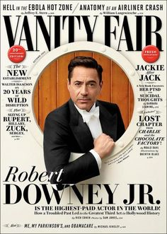 Vanity Fair magazine Robert Downey Jr Ebola Jackie Kennedy New establishment Magazine Design, Graphic Design Magazine, Robert Downey Jr., Susan Downey, Poster Art, Design Poster, Editorial Layout, Editorial Design, Web Design