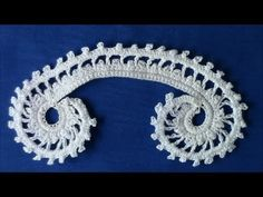 Irish Crochet Basics, a double picot scroll