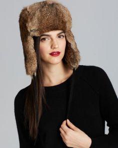 d786806ef2e Surell Rabbit Fur Aviator Hat Bloomingdale s Aviator Hat
