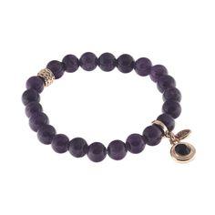 BIBA armband rosé / paars met #Swarovski Dark Indigo. Online verkrijgbaar bij…