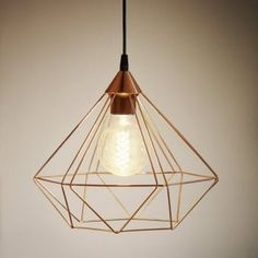 Playroom / bedrooms £33 - Tarbes Copper Coloured Cage Pendant Light
