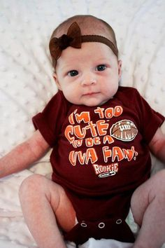 too cute to be a uva fan. gettin this for my niece for xmas! Va Tech Football, Virginia Tech Football, Virginia Tech Hokies, My Children, Future Children, Kids, Baby Mine, People Fall In Love, College Fun