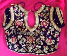 Open Neck Customized Blouse | Saree Blouse Patterns