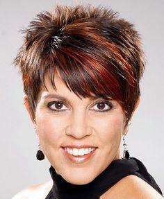 rövid női frizurák - rövid tüskés frizura