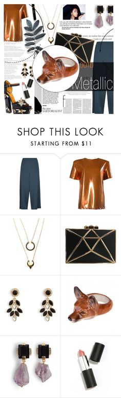"""metallic"" by mollyrosepaterson ❤ liked on Polyvore featuring Jaeger, FAIR+true, Marc Jacobs, WithChic, Maryam Keyhani, Vera Bradley, Marni, Sigma and metallic"