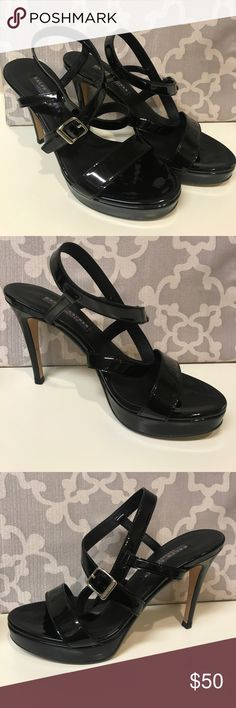 Ralph Lauren Collection patent leather strappy 6.5 These are from Ralph Lauren's high end designer collection. 3.5 inch heel. These are in excellent used condition. Only worn twice! Ralph Lauren Purple Label Shoes