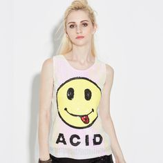 f677008a9ef729 Fashion 2017 Summer Cute Smile Letters Sequined Tank Tops Women Casual O  Neck Sleeveless Women Tops