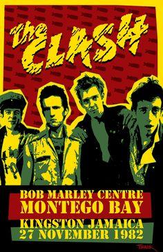 "Clash poster ""retro"""