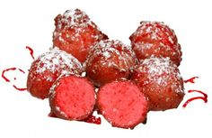 My name is Momma: Deep Fried Kool Aid  •2 cups of all-purpose flour  •1/2 a cup of white sugar  •1 teaspoon of salt  •4 Tablespoons Kool-Aid  •1 Tablespoon of baking powder  •2 Tablespoons of melted, unsalted butter  •1/2 a cup of milk  •1 beaten egg  Roll them up in balls and fry in veggie oil.