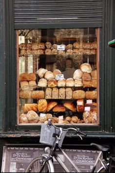 •TIP: Pull back and think about a bigger picture. This is your establishing shot. Where are you? Sure the bread would have been beautiful close up, but now I get a better feel of where I am. I want to ride my bike there.