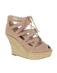 Ravel Lace Up Espradrille Wedge Shoe