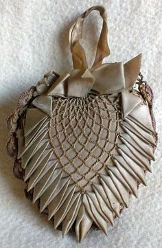 Antique Victorian Lace Heart Pin Cushion.