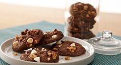 Chocolate White Chocolate Mint Cookies