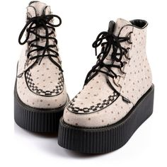 2014 Women's White Pointelle Style Sexy High Top Lace Up Flat PlatForm Women's Goth Creepers Shoes Punk Pumps Warm Ankle Martin Boots
