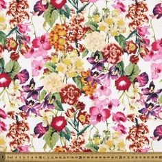 Fabric By the Metre From Spotlight - Widest Affordable Range Table Covers, Cotton Fabric, Quilts, Spotlight, Floral, Ivory, Garden, Fashion, Comforters