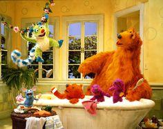 Bear, Treelo, Tutter, Ojo, Pip and Pop 2000s Kids Shows, Kids Tv Shows, Best Cartoon Movies, Big Blue House, Disney Bear, Jim Henson, Disney Junior, Photo Wall Collage, My Childhood Memories