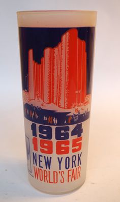 Vintage Souvenir Drinking Glass from the 1964 1965 New York Worlds Fair Hall of Science by retrowarehouse on Etsy