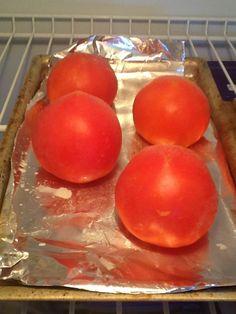Too many tomatoes?  Freeze 'em!
