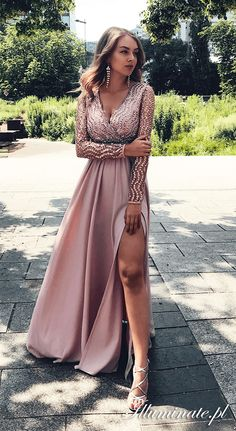 Prom Dresses Long Pink, Bridesmaid Dresses, Wedding Dresses, Dress For You, Evening Dresses, Formal Dresses, Long Sleeve, Outfits, Simple