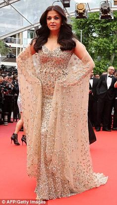 Bringing Bollywood glamour to Cannes! Bollywood beauties: During the 2016 Cannes Film Festival, India's own Aishwarya Rai Bachchan (L) and Sonam Kapoor (R) have graced the red carpet several times