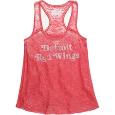Detroit Red Wings Women's Triple Play Burn-Out Tank Top - Touch by Alyssa Milano