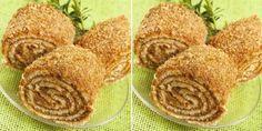 Ořechová roláda s medem z hrnečku připravená za 25 minut recept Sweet Desserts, Sweet Recipes, Delicious Desserts, Cake Recipes, Snack Recipes, Dessert Recipes, Cooking Recipes, Yummy Food, Snacks