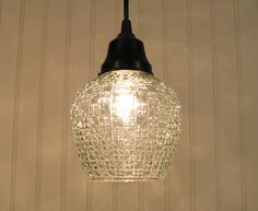 Boothbay II. Vintage Art Deco PENDANT Light Created NEW. $79.00, via Etsy.