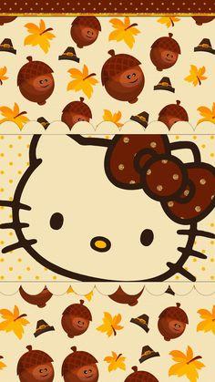 Thanksgiving Wallpaper, Holiday Wallpaper, Fall Wallpaper, Summer Wallpaper Phone, Free Phone Wallpaper, Hello Kitty Backgrounds, Hello Kitty Wallpaper, Hello Kitty Halloween, Hello Kitty Pictures