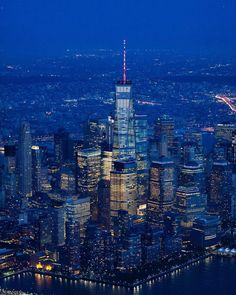 One World Trade Center at night by @jayobs - New York City Feelings
