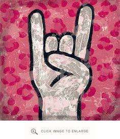 Oopsy Daisy Canvas Wall Art I Love Rock & Roll {Leopard Rock On} 14 x 14 $69.00