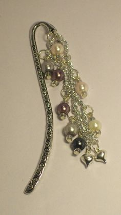 SALE  Pearl Bookmark Beaded Pearl Bookmark by Michelleshandcrafted, £4.50
