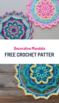 Decorative Mandala Free Crochet Pattern