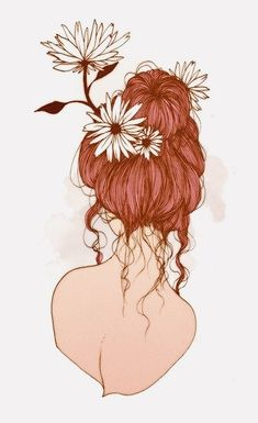Redhead Art, Hair Illustration, Salon Art, Fashion Wall Art, Human Art, Art Inspo, Art Girl, Amazing Art, Character Art