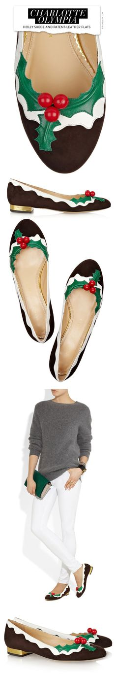 ~Charlotte Olympia Christmas Flats | The House of Beccaria