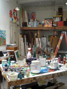 creative spaces, artist Erik den Breejen in his studio | Pencil in the Studio