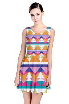 Triangle Waves_MirandaMol Skater Dress #pinkcess #mirandamol #fashion #cool #skater #dress #summer